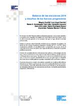 Balance de las elecciones 2014 y desafíos de las fuerzas progresistas