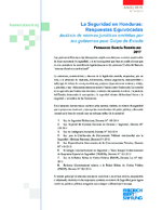 La seguridad en Honduras: Respuestas equivocadas