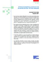 El tema económico y social en los acuerdos de paz