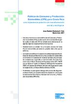 Política de consumo y producción sostenibles (CPS) para Costa Rica