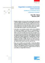 Seguridad ciudadana en jóvenes costarricenses