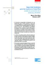 Seguridad ciudadana para las mujeres en Costa Rica