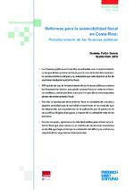Reformas para la sostenibilidad fiscal en Costa Rica
