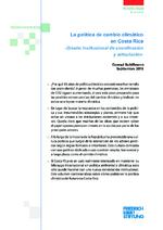 La política de cambio climático en Costa Rica