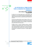 El estado de la tributación para la equidad de género en Honduras
